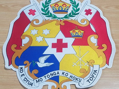 TONGA COAT OF ARMS PATCHES 16X16 ALL 100% EMBROIDERED