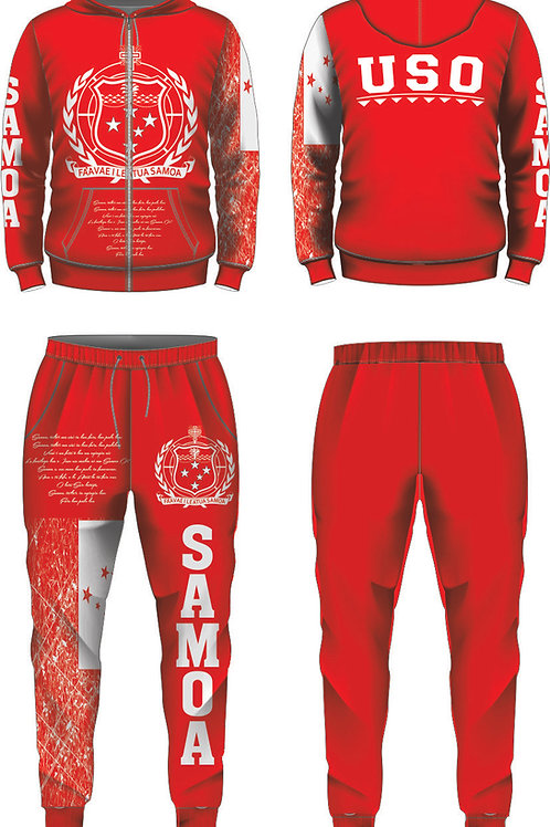 YOUTH SIZE SAMOA RED AND WHITE JUMPSUIT