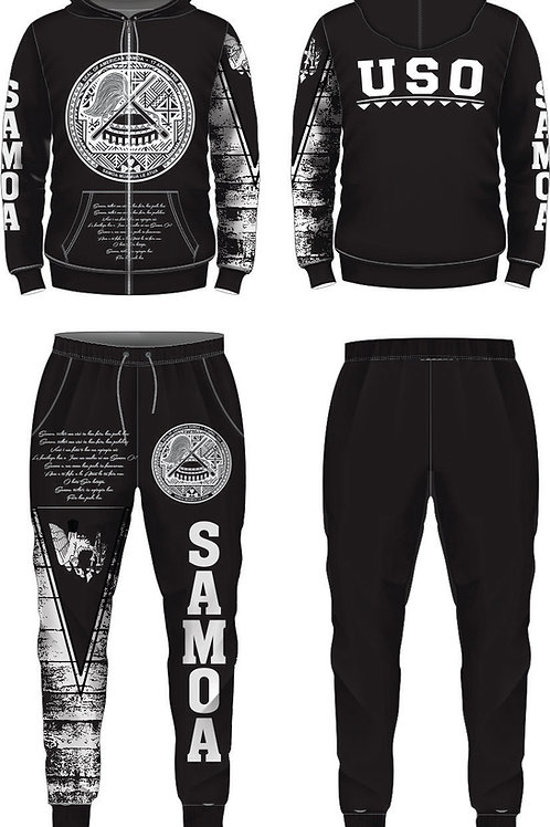AMERICAN SAMOA JUMPSUIT BLACK AND WHITE