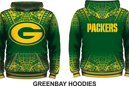(ADULT SIZES)GREENBAY PACKERS GREEN