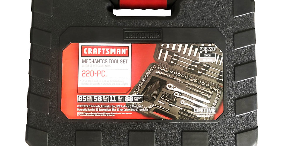 Craftsman Mechanics Tool Set ( 220pcs )