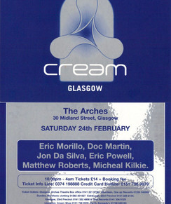 Cream at The Arches, Glasgow, 1996