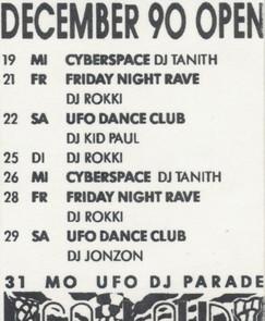 UFO Dance Club 1990