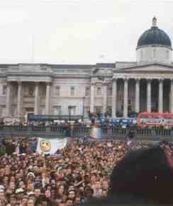 Protests in Trafalger Square
