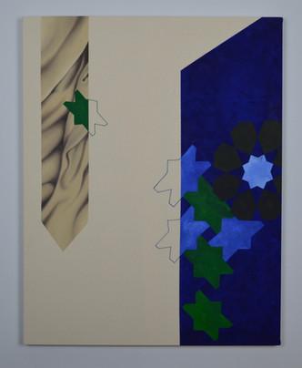Granada, oil and fibre on canvas, 2019