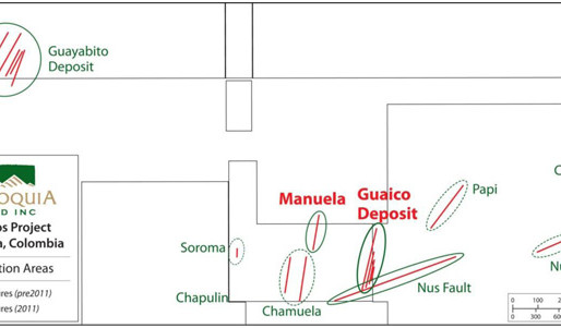 Antioquia Gold. Expands Discovery and Delineation of Gold-bearing Structures at Guaico and LaManuela