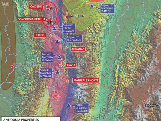Antioquia Gold Inc. Signs Letter of Intent with Trident Gold Corp. for Exploration of Two Projects
