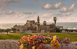 Der Nationalpark Caesarea beeindruckend der Aquädukt und das Römische Theater