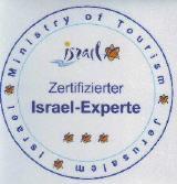 Zertifikat Israel Expert Tourismusministerium Jerusalem