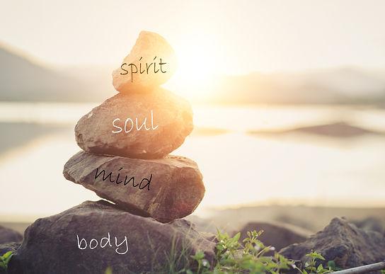 Concept body, mind, soul, spirit, .jpg