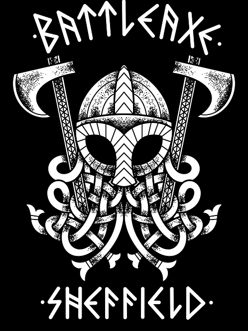 A2 Viking Warrior Mask Print