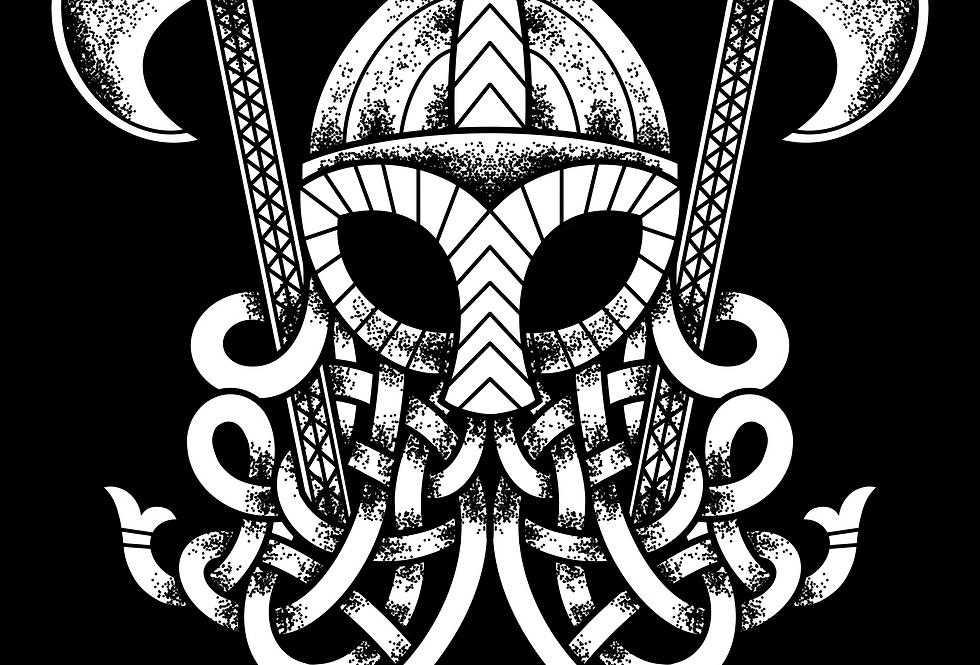 A2 Viking Warrior Mask Print