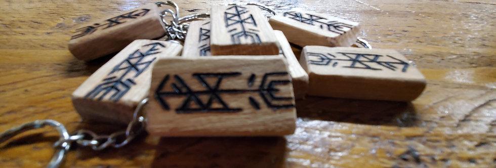 BattleAxe Rune Keyring