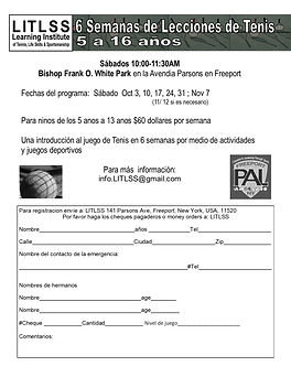 FREEPORT pal flyer 2020 Fall spanish  in