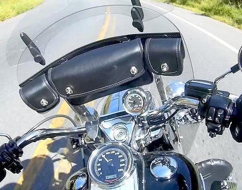 Bolsa Trio para Parabrisa Harley Davidson