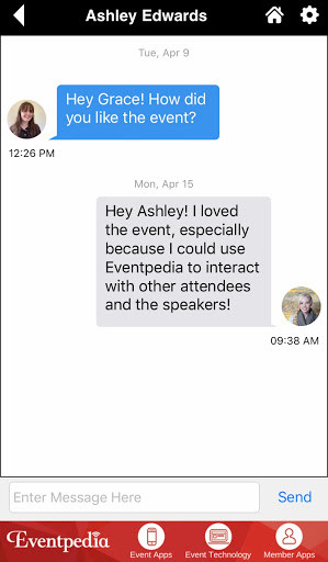 Eventpedia Attendee Chat Feature