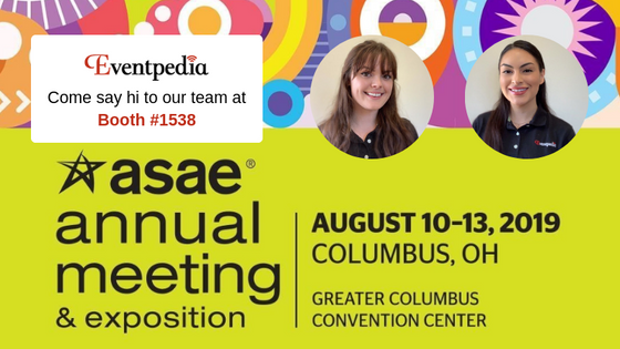 Join us at ASAE 2019! Booth #1538