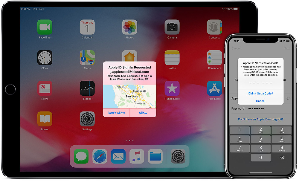 Setup two-factor authentication for Apple ID