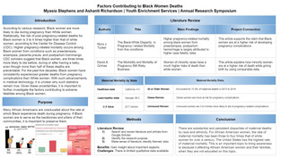 Stephens, M., and Richardson, A. Factors Contributing to Black Women Deaths.