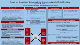 Finch, K. Anxiety and Depression: Recommendations for Medical Providers.