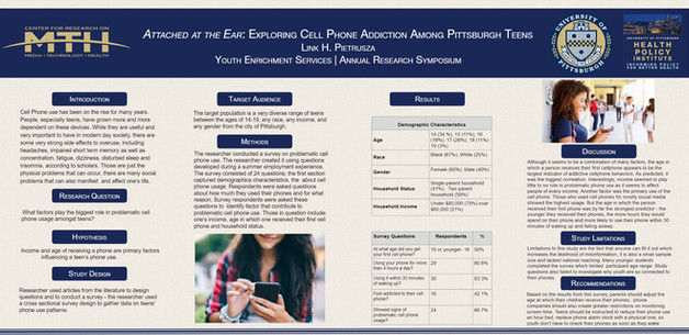 Pietrusza, L. Attached at the Ear: Exploring Cell Phone Addiction Among Pittsburgh Teens.