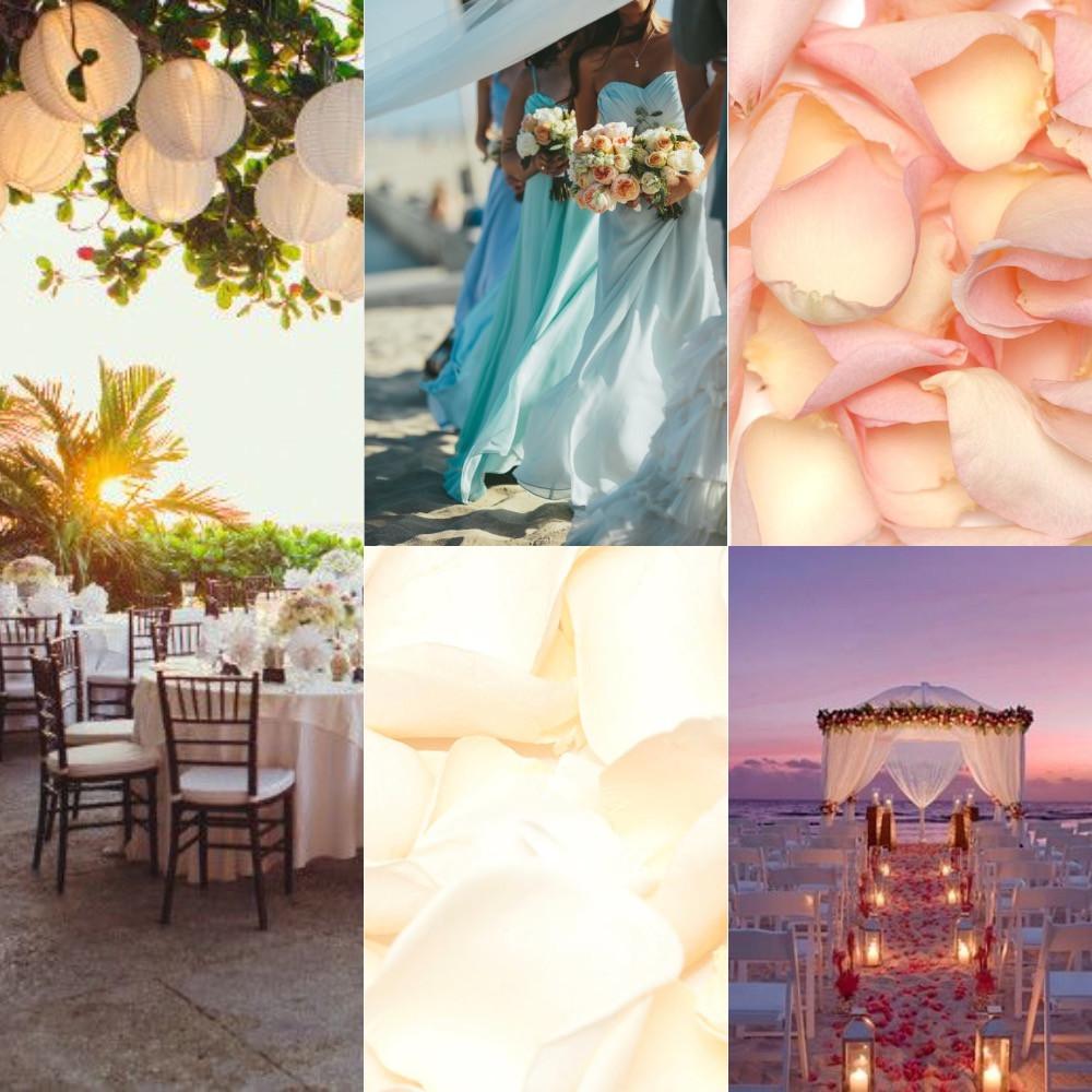 Beach confetti wedding ideas