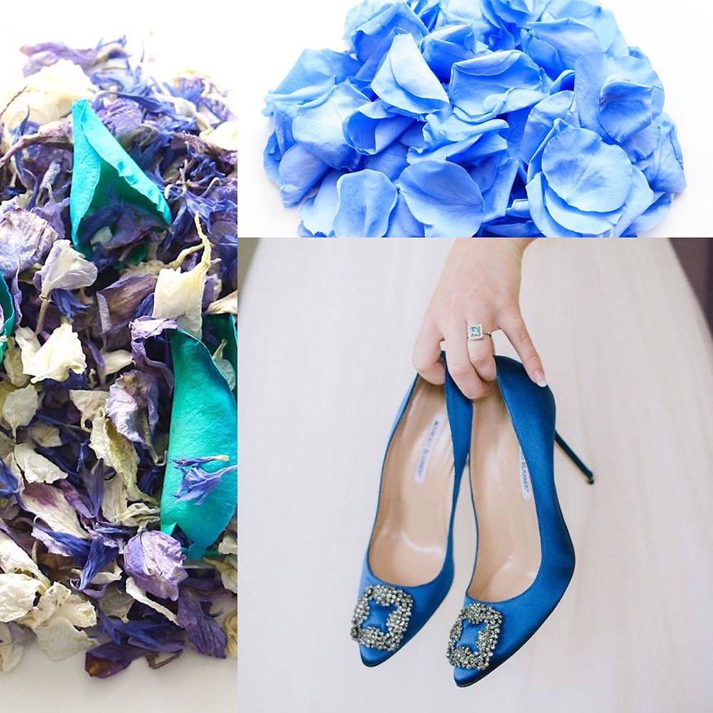 Blue wedding confetti ideas