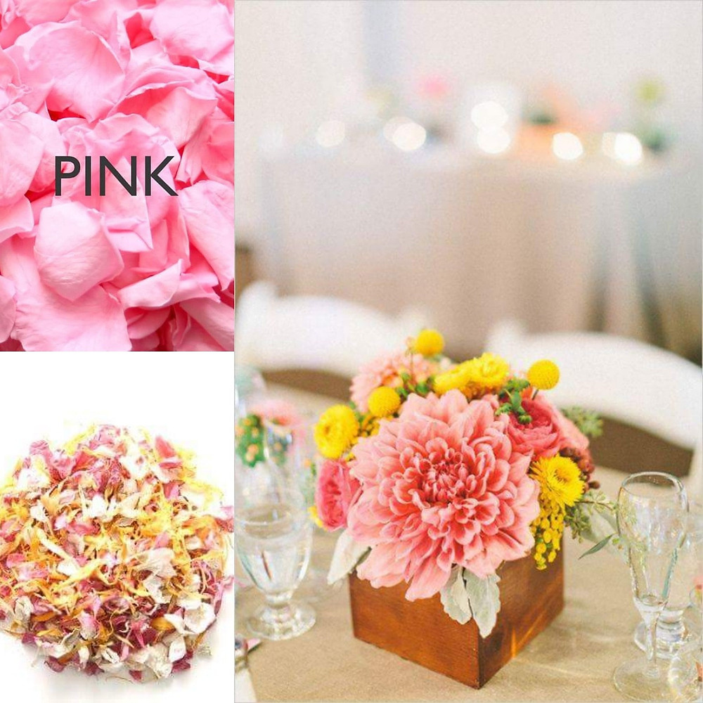Pink and yellow confetti wedding ideas