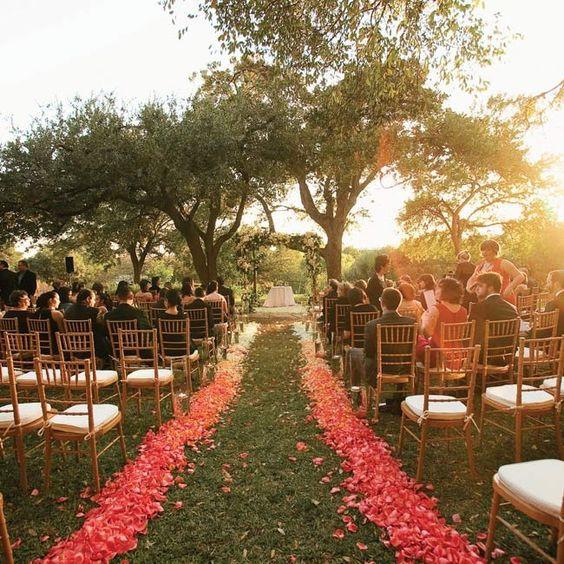 rose petal decor, decor, decor ideas, salmon roses, Salmon rose petals,  wedding decor ideas, ideas for wedding decor, aisle decor, aisle decoration, aisle decoration