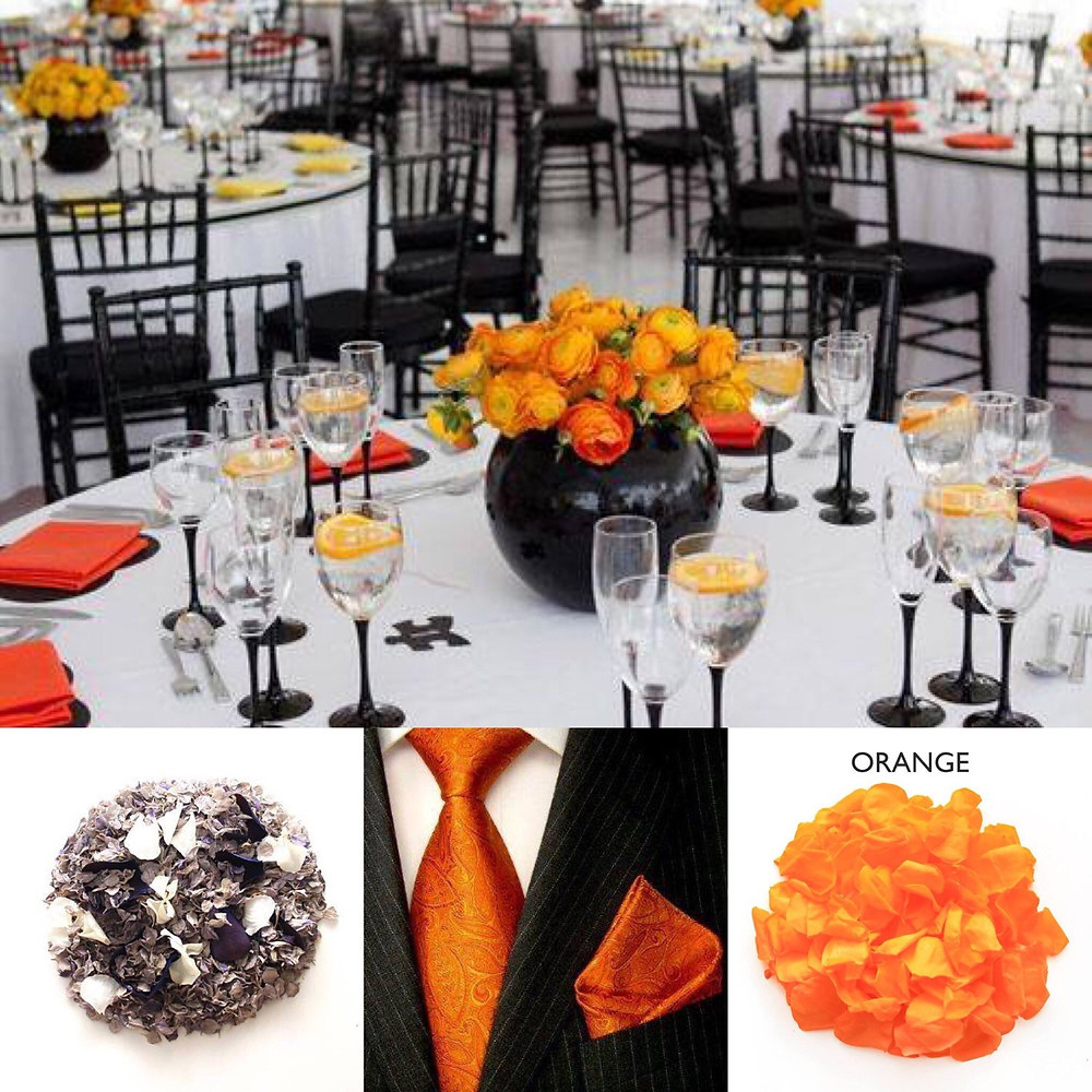 Black and Orange themed wedding ideas
