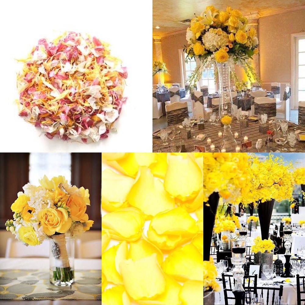 Yellow themed wedding ideas
