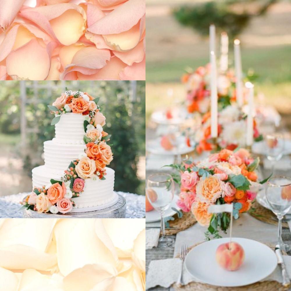 Peaches and cream confetti wedding ideas