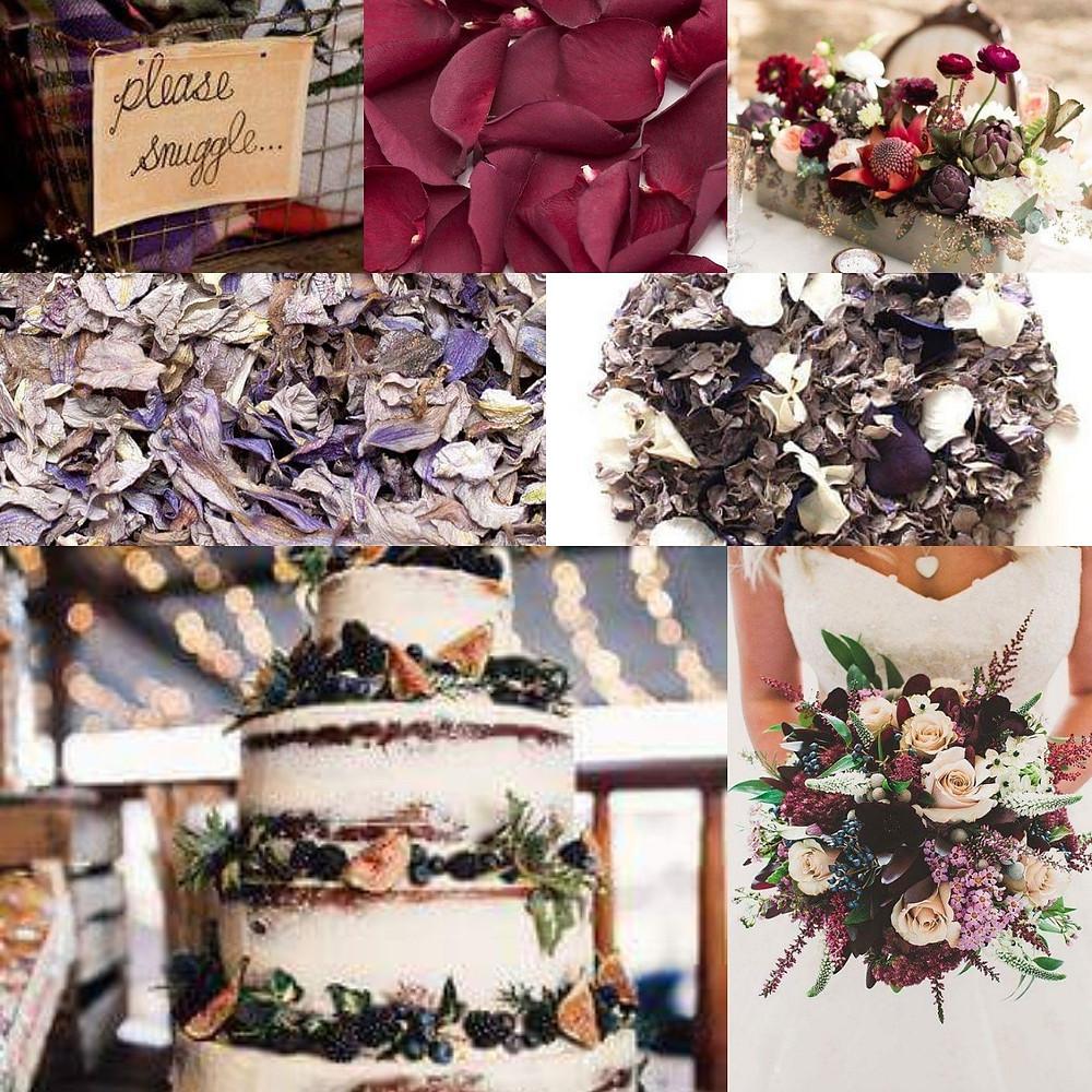 Autumn confetti wedding ideas