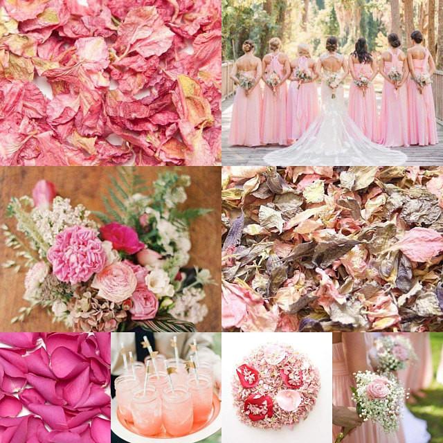 Pink confetti wedding ideas