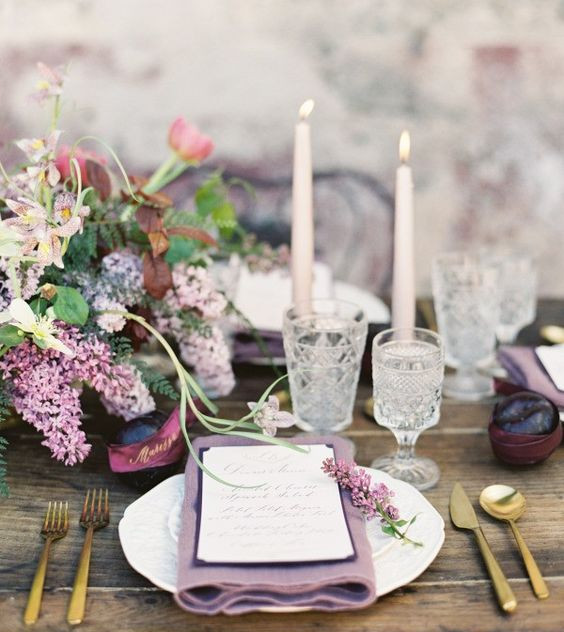 Lavender themed wedding ideas