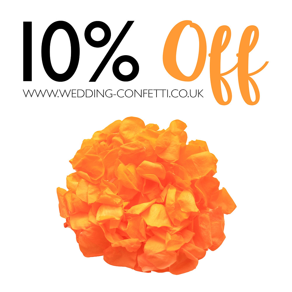 Natural biodegradable wedding confetti 10% OFF