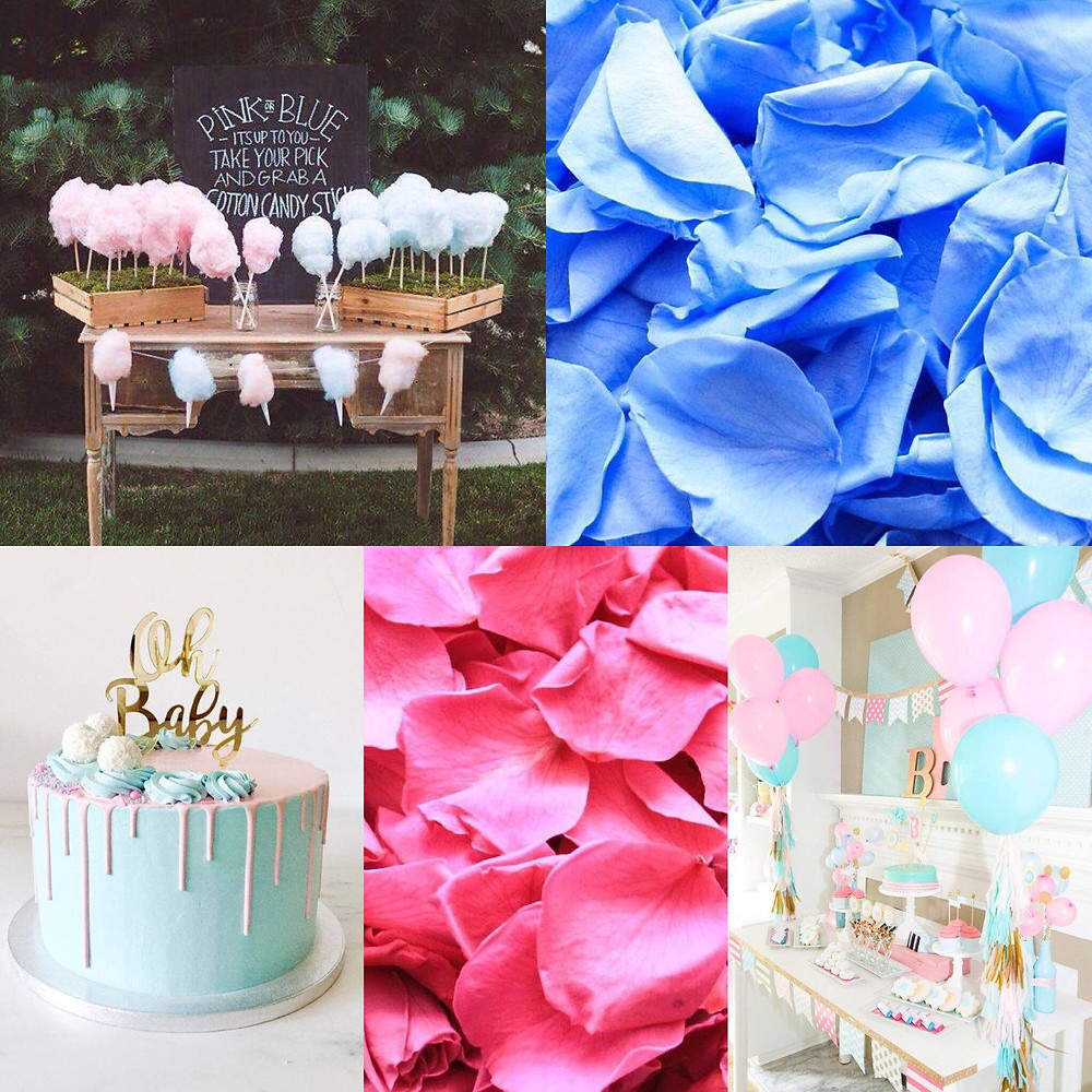Gender reveal party confetti ideas