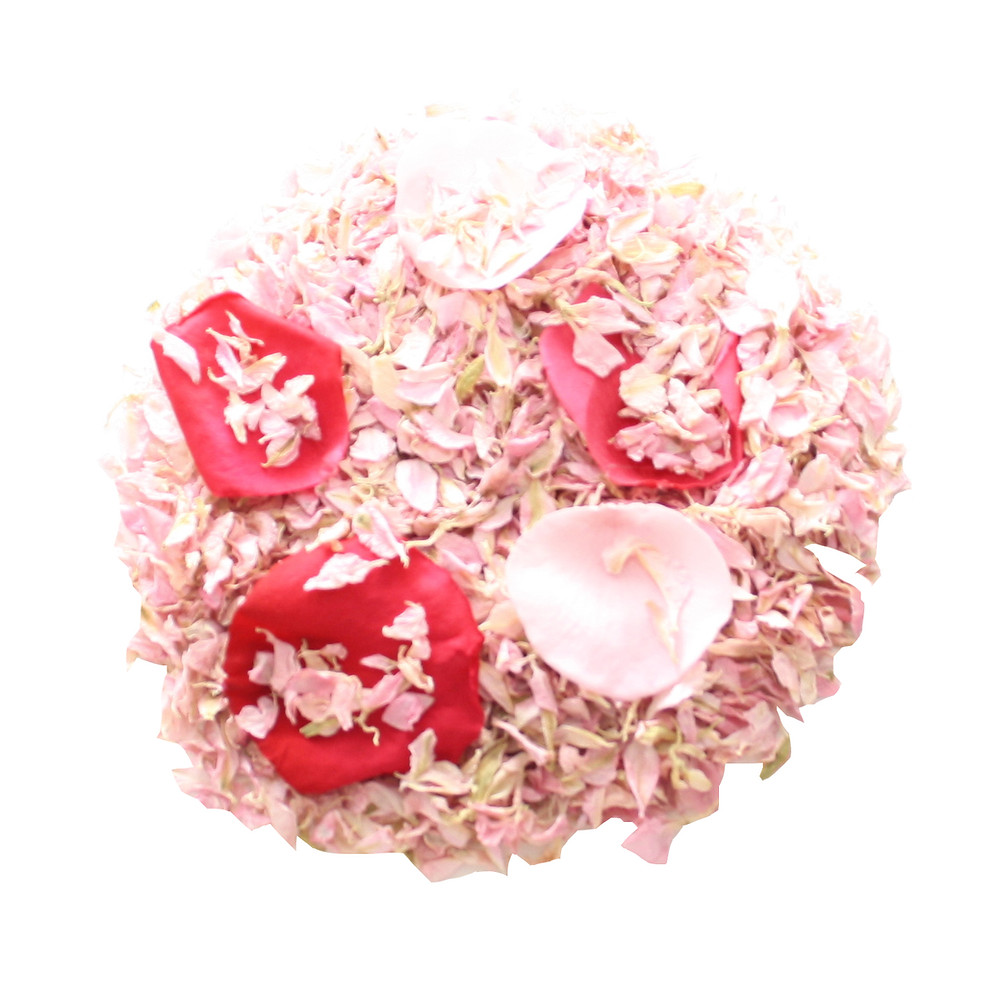 Pink Biodegradable Wedding Confetti Petal Mix