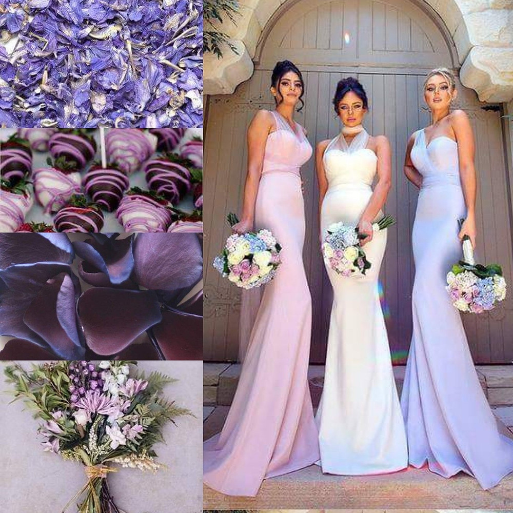 Purple confetti wedding ideas