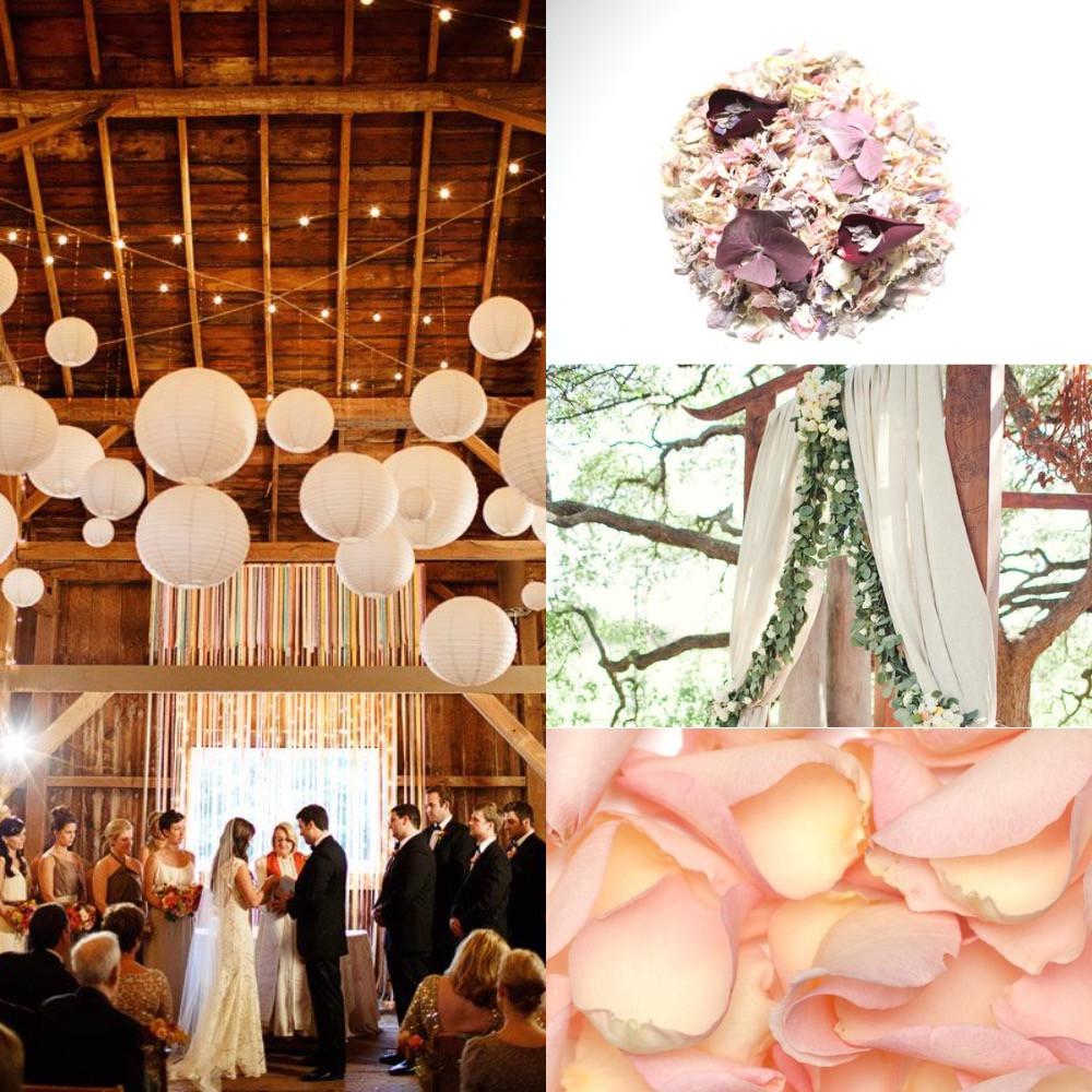 Barn confetti wedding ideas