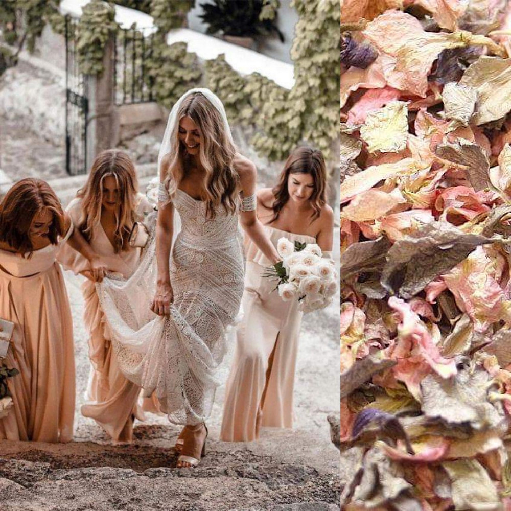 Boho blush confetti wedding ideas