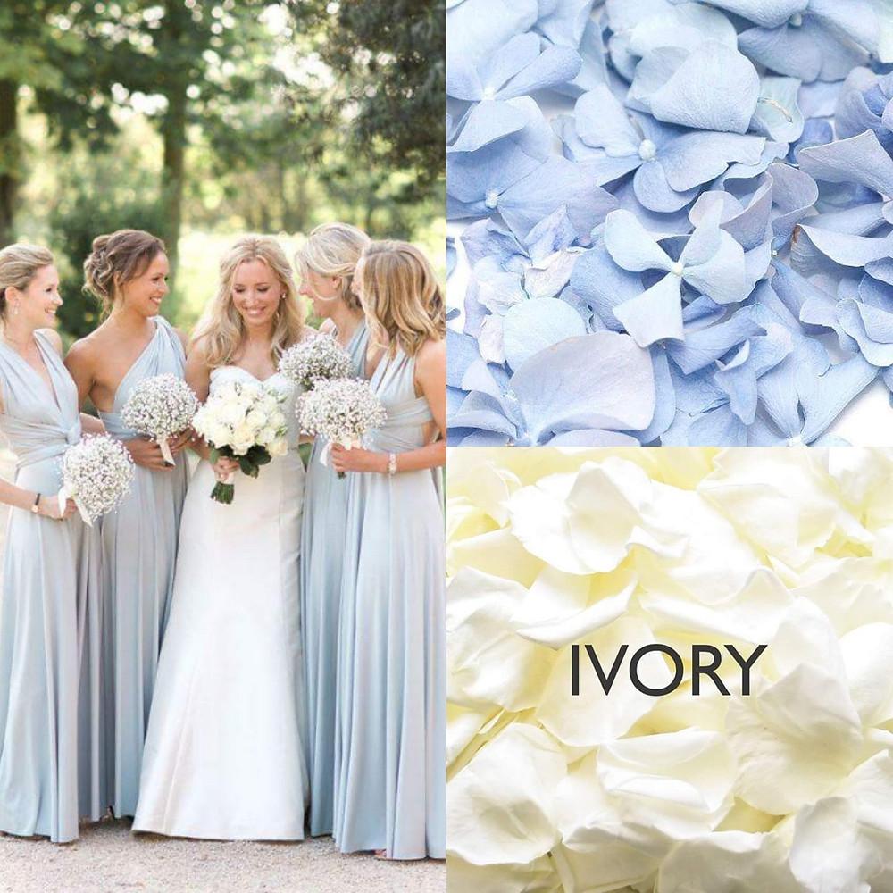 Baby blue confetti wedding ideas