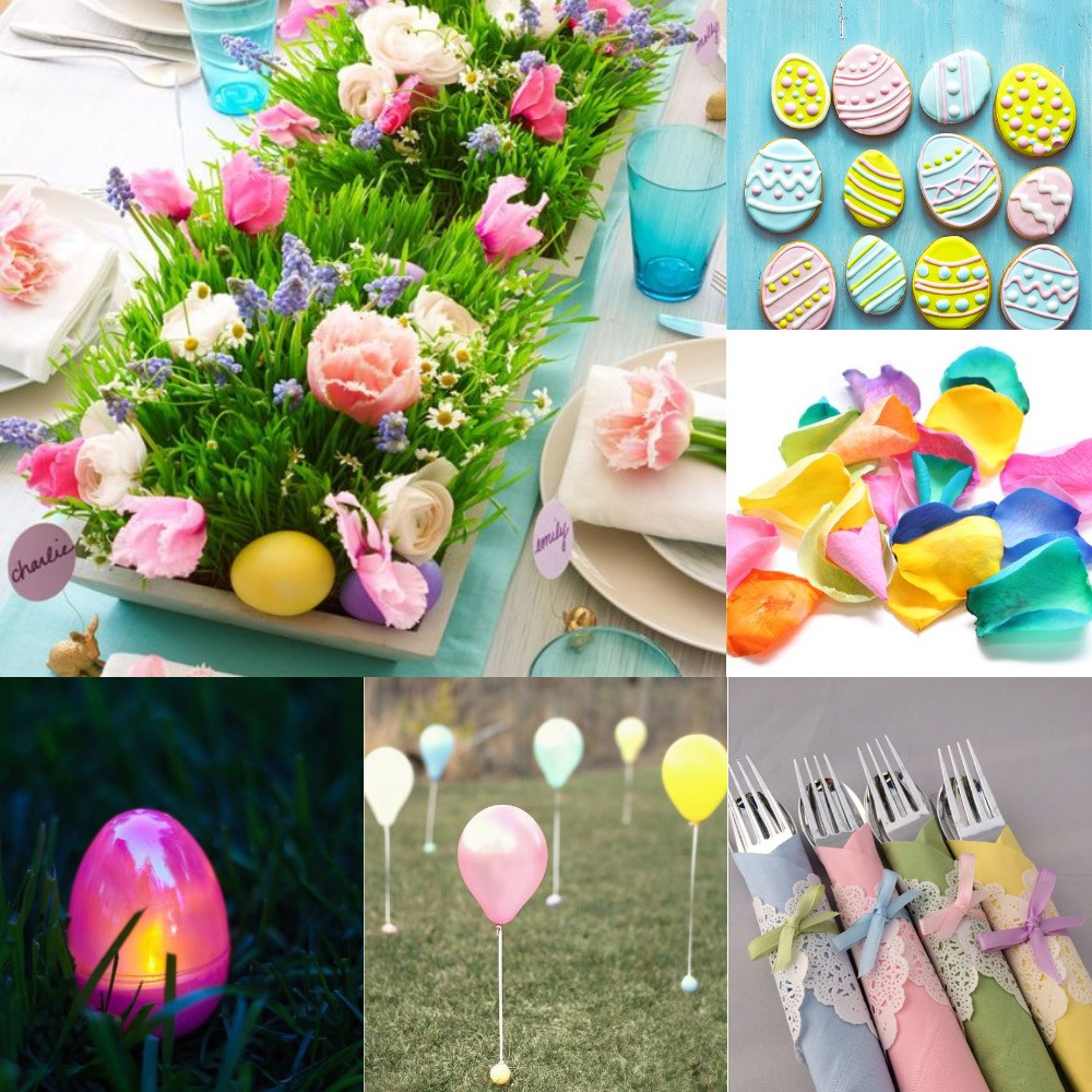 Easter party confetti ideas