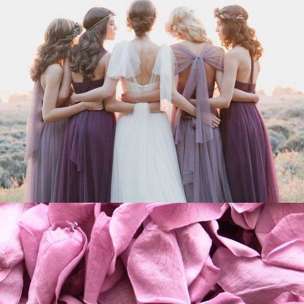Dusky purple confetti wedding ideas