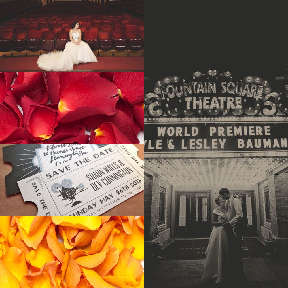 Theatre confetti wedding ideas