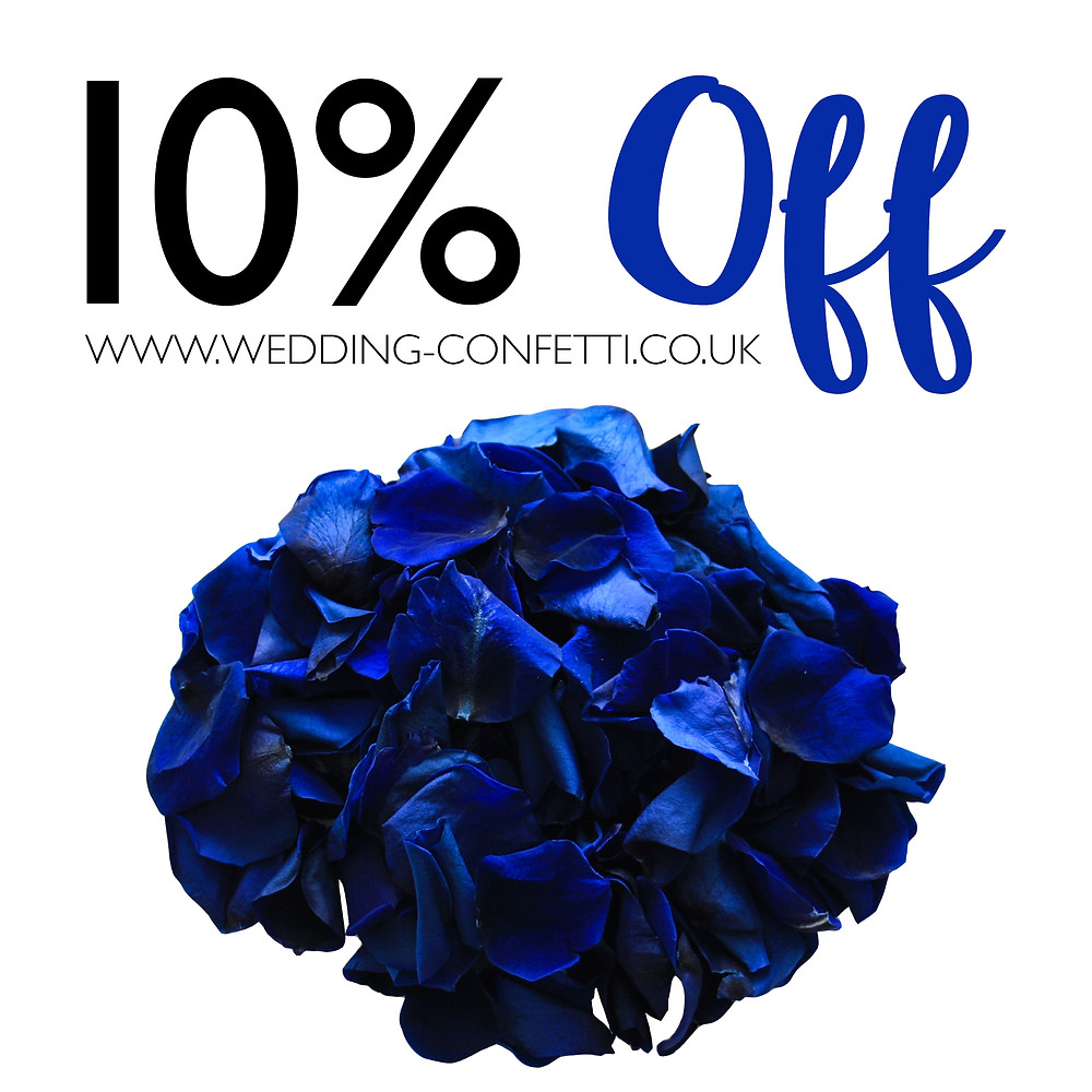 10% Off All Biodegradable Wedding Confetti