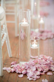 Pink Petal Aisle With Candles