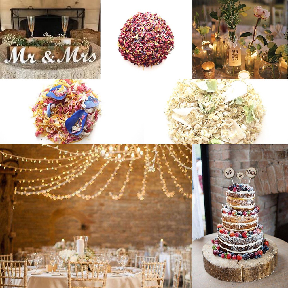 Vintage barn confetti wedding ideas