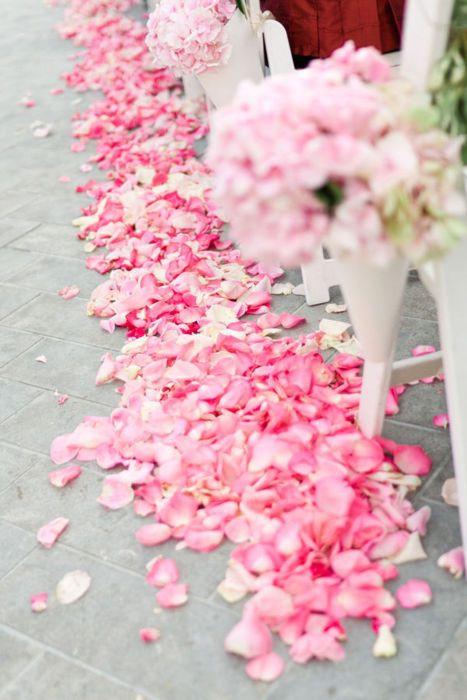 rose petal decor, decor, decor ideas, pink roses, pink rose petals,  wedding decor ideas, ideas for wedding decor, aisle decor, aisle decoration, aisle decoration
