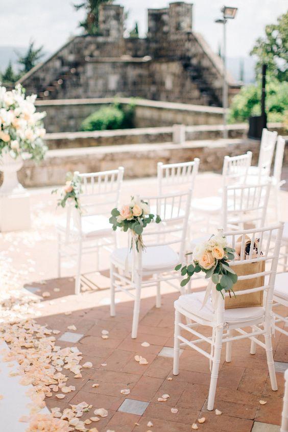 rose petal decor, decor, decor ideas, peach roses, peach rose petals,  wedding decor ideas, ideas for wedding decor, aisle decor, aisle decoration, aisle decoration